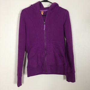 Lucy Purple Zip Up Hooded Sweatshirt